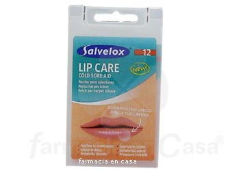 SALVELOX LIP CARE APÓSITOS HIDROCOLOIDES 15 MM 12 UDS