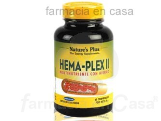 NATURE PLUS HEMA-PLEX II HIERRO B2 B6 B12 60COMP