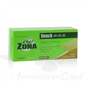 ENERZONA SNACK BAR 40-30-30 BARRITA CHEESE CAKE 5 UDS