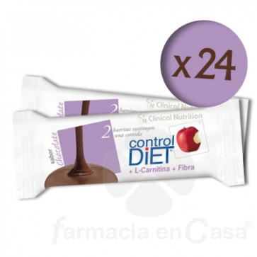 CONTROL-DIET BARRITAS CHOCOLATE 24 UDS