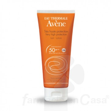 AVÈNE SOLAR SPF 50+ LECHE ULTRA PROTECCION 100ML