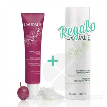 CAUDALIE VINOSOURCE CREMA ULTRANUTRITIVA 40ML + AGUA MICELAR 50ML