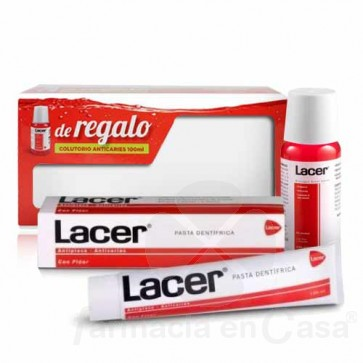 LACER PASTA DENTAL FLUOR 125ML + COLUTORIO 100ML
