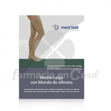 Medilast Media Larga (a-f) Comp Normal B Silicona Beige T-Me