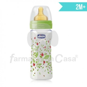 Chicco Biberón tetina caucho well-being 2m+ 250ml