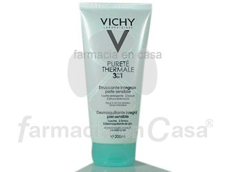 Vichy Pureza thermal desmaquillante integral p/sensible 200ml
