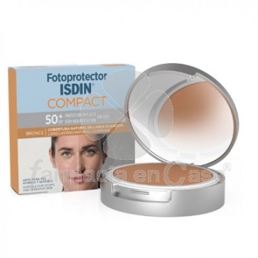 Isdin Fotoprotector spf 50+ maquillaje compacto bronce 10gr