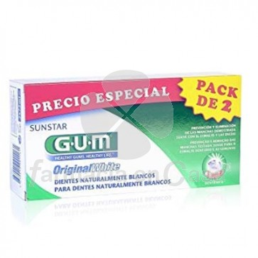 Gum Original White Pasta Dental Duplo 2x75ml