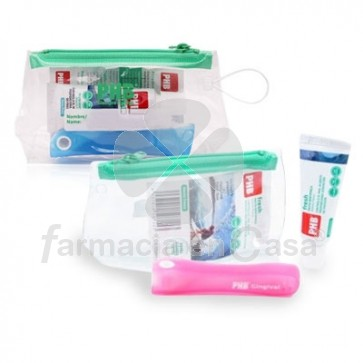 PHB Sensitive Cepillo Viaje + Pasta Dental Fresh 15ml + Neceser