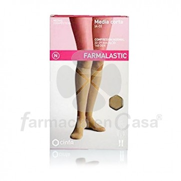 Farmalastic Media corta (a-d) comp normal beige t- reina plu