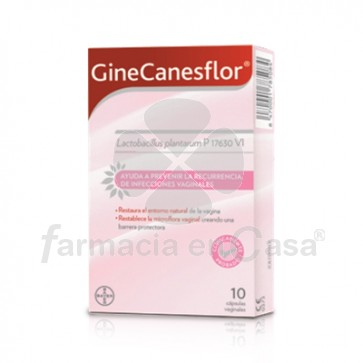 Ginecanesflor Infeccion Vaginal 10 Cápsulas Vaginales