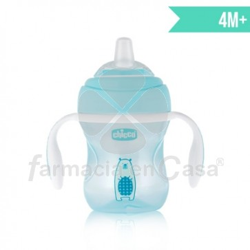 Chicco Mix match vaso de transicion silicona azul 4m+ 200ml