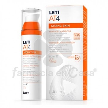 Leti AT4 Atopic Skin Hidrogel Antipicor Textura Ultraligera 50ml