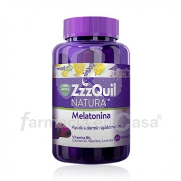 Vicks Zzzquil Natura Melatonina Sabor Frutos Bosque 60 Gominolas