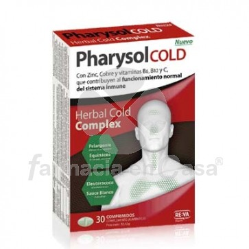 Pharysol Cold Herbal Complex 30 Comprimidos