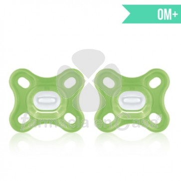 Mam Comfort Chupete Silicona Verde 0m+ 2 Uds
