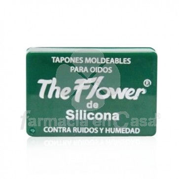 Tapones oído silicona the flowers 6 uds