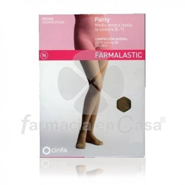 Farmalastic Panty comp normal 140 den camel t- med