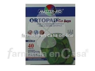 Ortopad Parches oculares for boys medium 40 uds