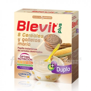 Blevit Plus 8 cereales galleta maria duplo 2x300gr