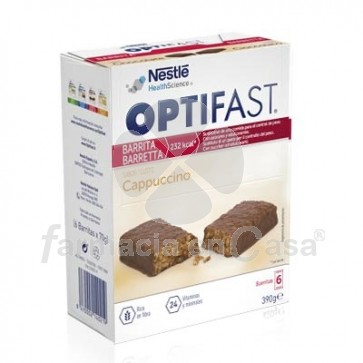 Optifast Barritas Capuchino 6 Uds
