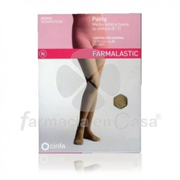 Farmalastic Panty comp normal 140 den beige t- med