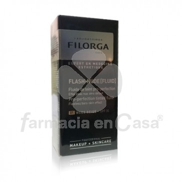 Filorga Flash-nude fluido con color 01 beige spf 30 30ml