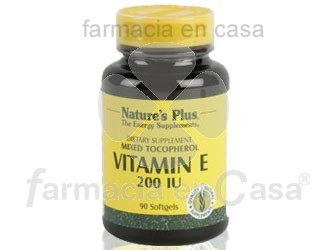Nature plus vitamina e 200 iu 90 perlas