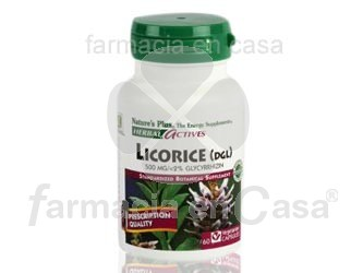 Nature's Plus Nature plus licorice regaliz 500mg antioxidante 60 cápsulas