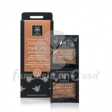Apivita Express gold mascarilla reafirmante jalea real 2x8ml