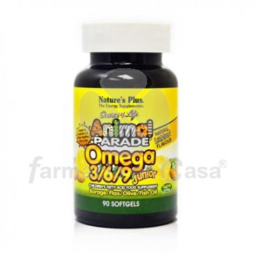 Nature plus animal parade omega 3-6-9 junior 90 perlas