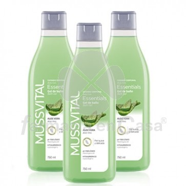 Mussvital Essentials Gel de Baño Aloe Vera Triplo 3x750ml