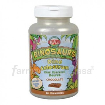 Dinosaurs Dino Colostrum Defensas Sabor Chocolate 60 Tabletas