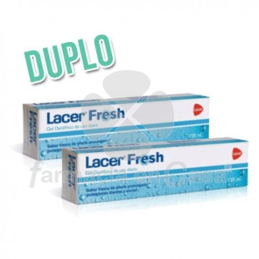 Lacer Fresh Gel Dentifrico Sabor Fresco Duplo 2x125ml