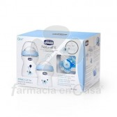 Chicco Natural feeling biberón azul 0m+ 250ml+biber 150ml+chupete