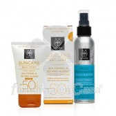 Apivita Suncare anti-spot spf 50 crema con color 50ml + agua 100ml
