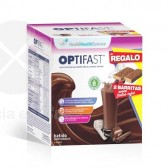 OPTIFAST BATIDO CHOCOLATE 9 SOBRES + BARRITA FRUTOS ROJOS 2 UDS
