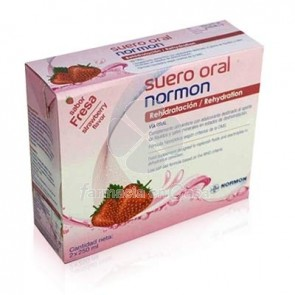 Suero oral normon fresa 2 bricks x 250ml