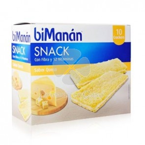 Bimanan Entre horas crackers de queso 200 g 10 u