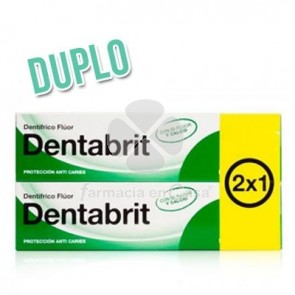 Dentabrit Pasta Dental Fluor 2x125 ml