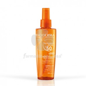Bioderma Photoderm bronz aceite seco no graso spf 50+ spray 200 ml