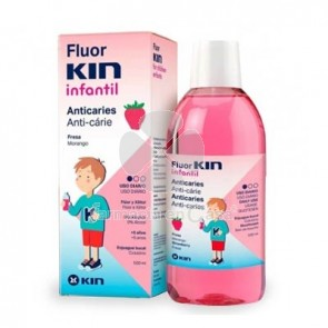 Fluorkin Infantil Enjuague Bucal Anticaries Fresa 500ml