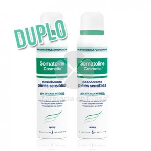 Somatoline Desodorante Piel Sensible 48h Spray Duplo 2x150ml