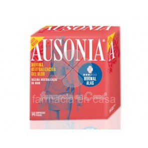 Ausonia Airdry normal alas compresa 14uds