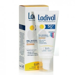 Ladival Piel Sensible Gel Crema Oil Free con Color Spf50+ 50ml