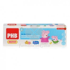 PHB Petit Gel Dentifrico Peppa Pig Sabor Fresa 75ml