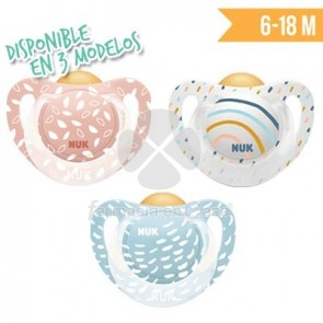 Nuk Chupete Colour Play T2 Latex 6-18m 1ud