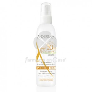 Aderma Protect kids spray niños spf 50+ 200ml
