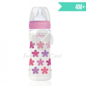 Chicco Biberon Tetina Silicona Well-Being Rosa 4m+ 330ml
