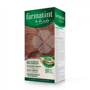 Farmatint 8r rubio claro cobrizo gel 150ml